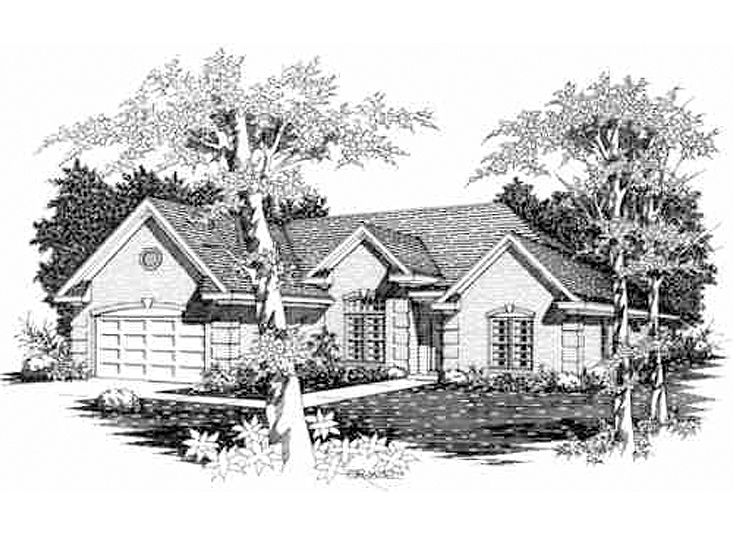 One-Story House Plan, 061H-0061