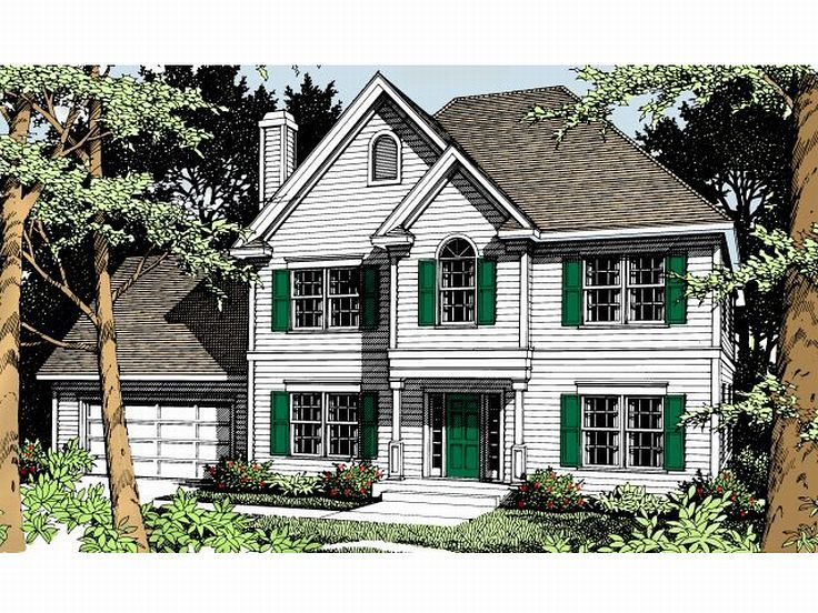 Two-Story House Plan, 026H-0023