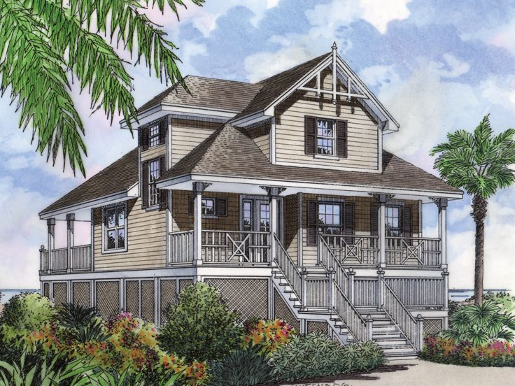 Beach House Plan, 043H-0023