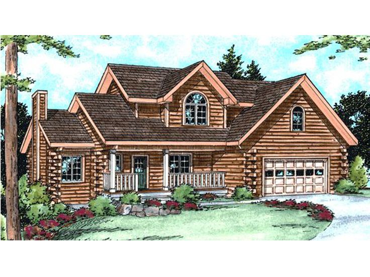 Log Home Design, 031L-0014