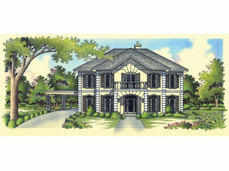 Luxury Home Plan, 021H-0183