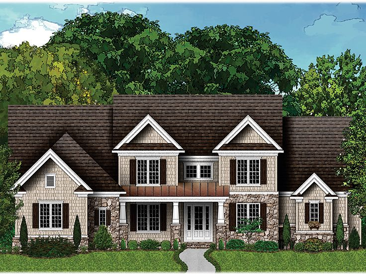 Craftsman home plans two story luxury craftsman house for Luxury craftsman home plans