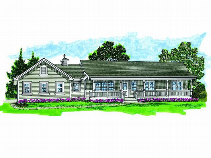 Ranch House Plan, 032H-0098