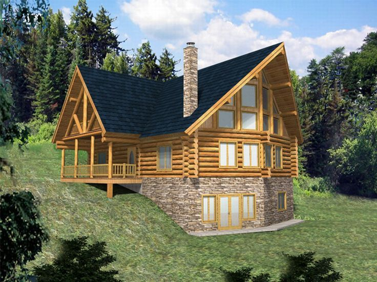 A-Frame Log Home, 012L-0023