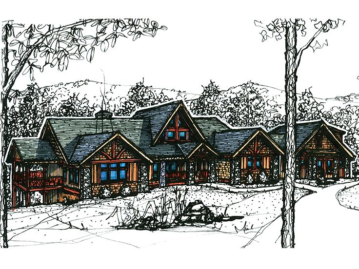 Luxury Mountain Home, 025H-0190