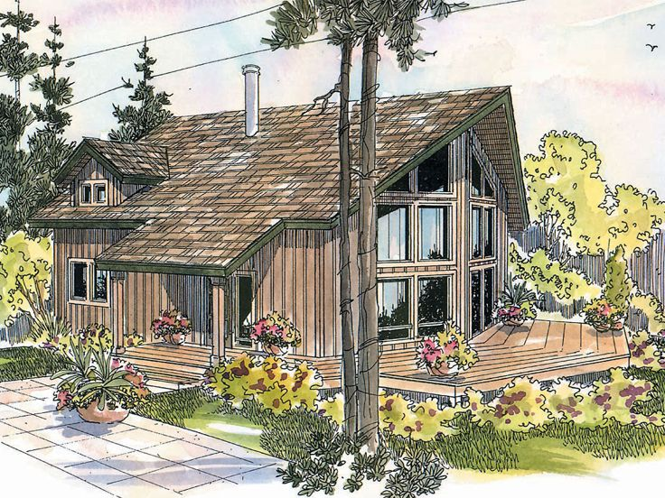 Plan 051h 0102 find unique house plans home plans and for Vacation cabin plans