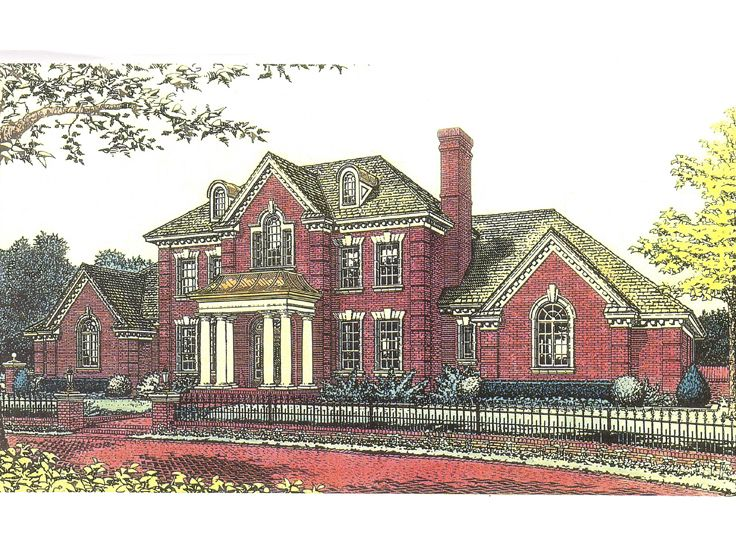 Luxury House Plan, 002H-0068