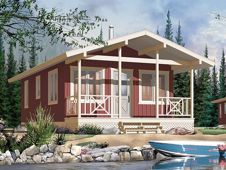 cabin home plan 027h 0155 - Cabin House Plans