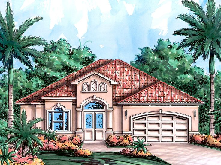 Sunbelt home plans one story sunbelt house plan 037h for Sunbelt house plans