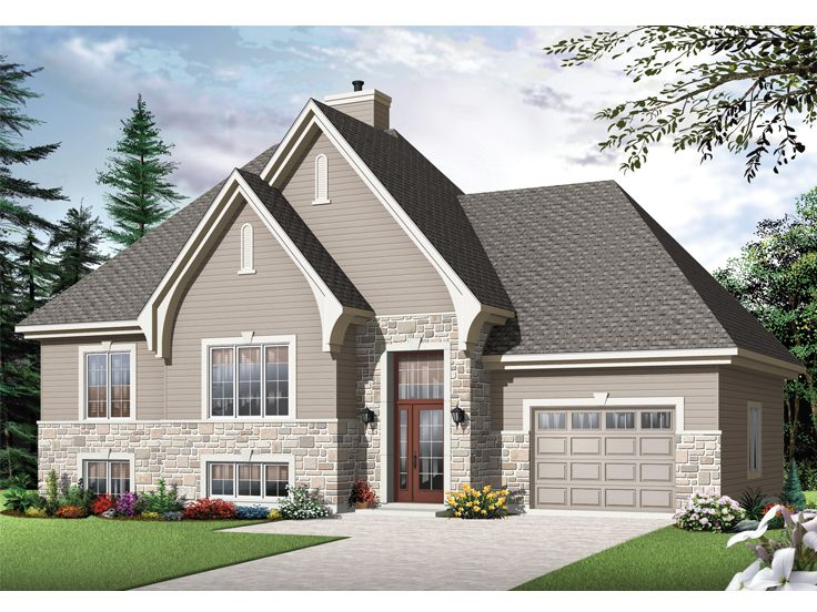 European House Plan, 027H-0329