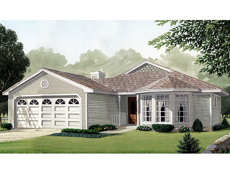 Ranch House Plan, 054H-0097