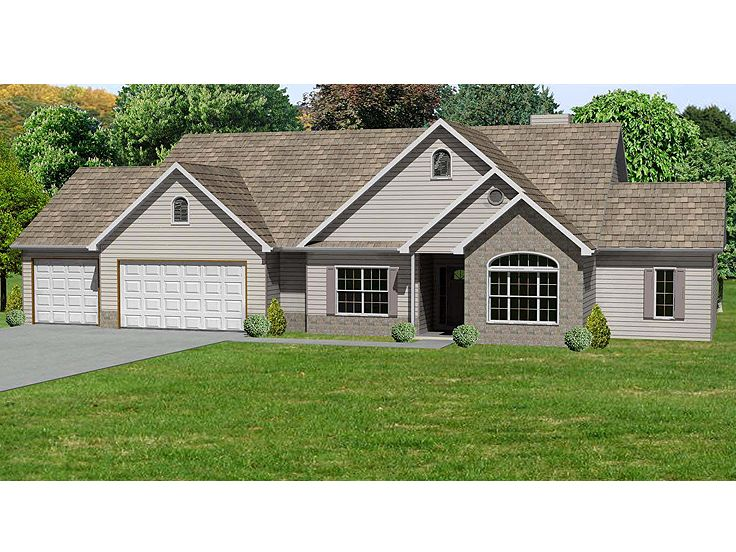 Ranch House Plan, 048H-0021