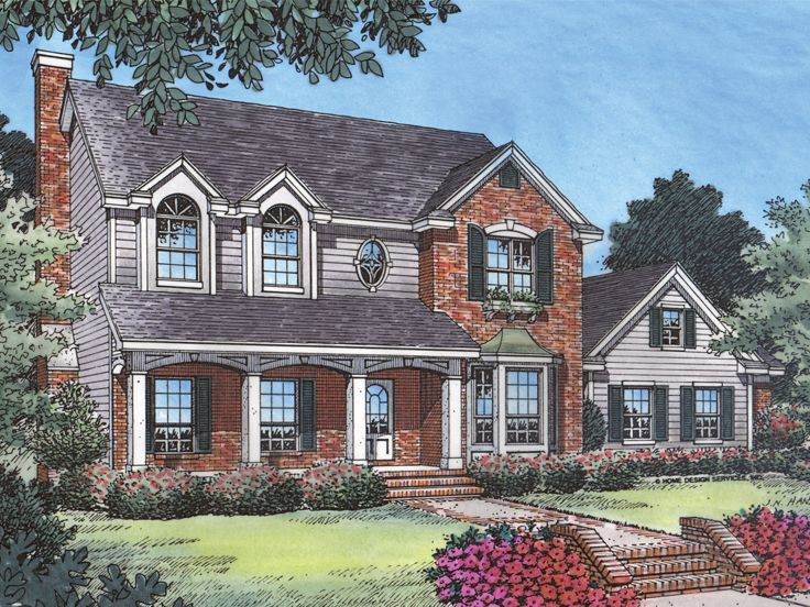 Two-Story House Plan, 043H-0060