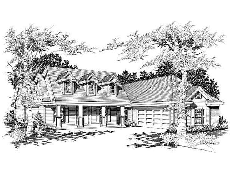 Southern Country Home, 061H-0039