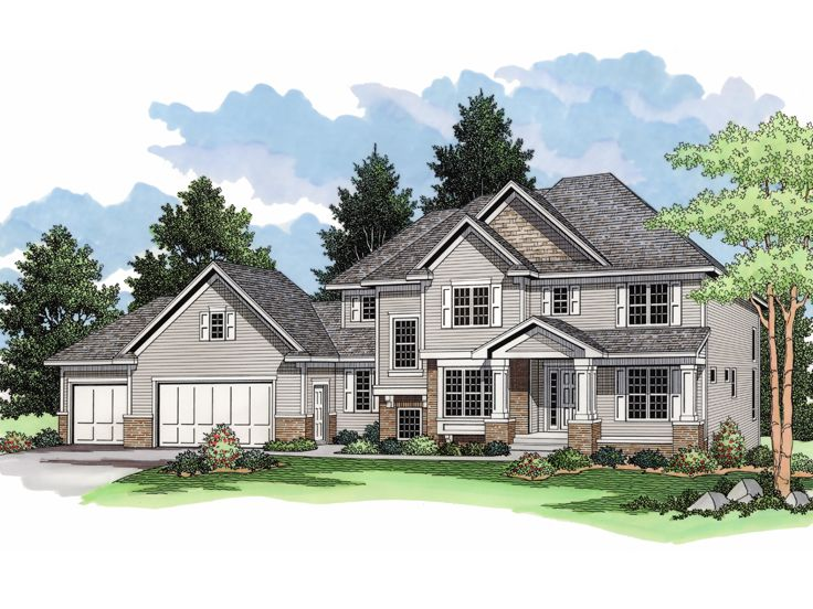 Two-Story House Plan, 023H-0135