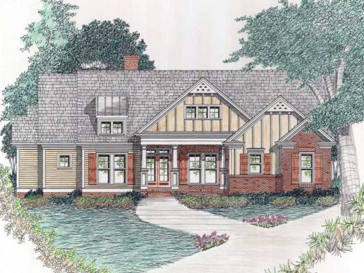 Ranch House Plan, 045H-0055