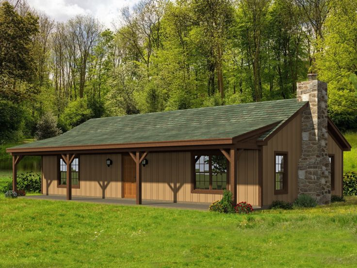 Cabin House Plans Vacation Cabin Home Plan With Full