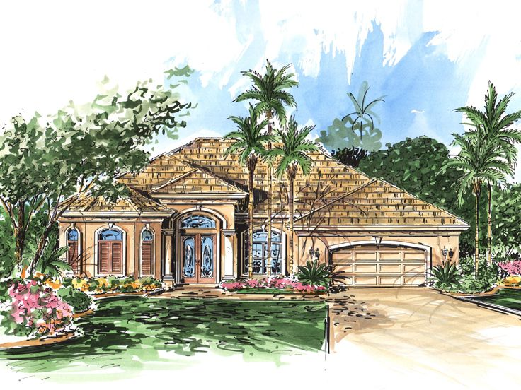 Sunbelt House Plan, 040H-0077