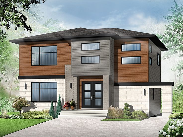 Contemporary home plans 2 story contemporary house plan for Contemporary homes floor plans
