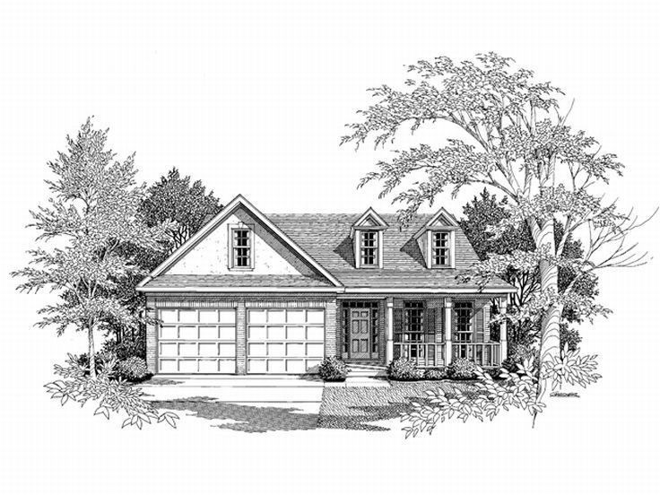Ranch Home Design, 019H-0049