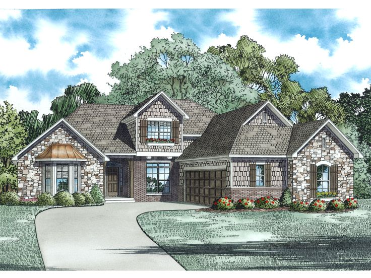 Two-Story Home Plan, 025H-0316