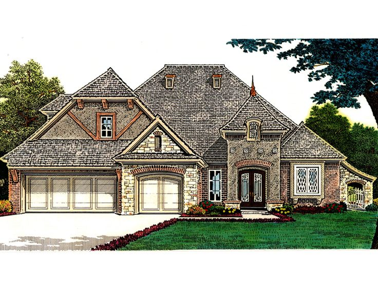 European House Plan, 002H-0102
