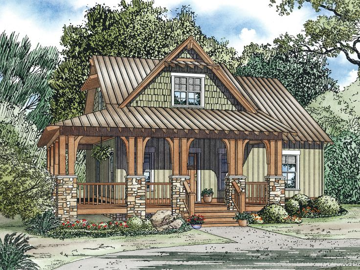small country home 025h 0243 - Unique House Plans
