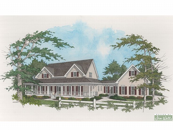 Country House Plan, 007H-0090