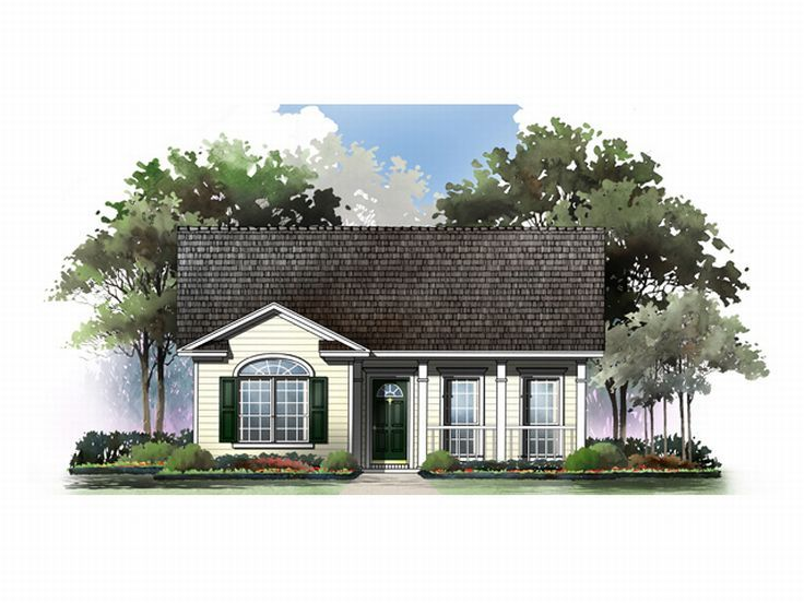 Narrow Lot House Plan, 001H-0009