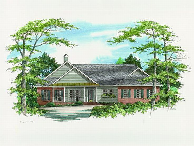 Ranch House Plan, 030H-0068