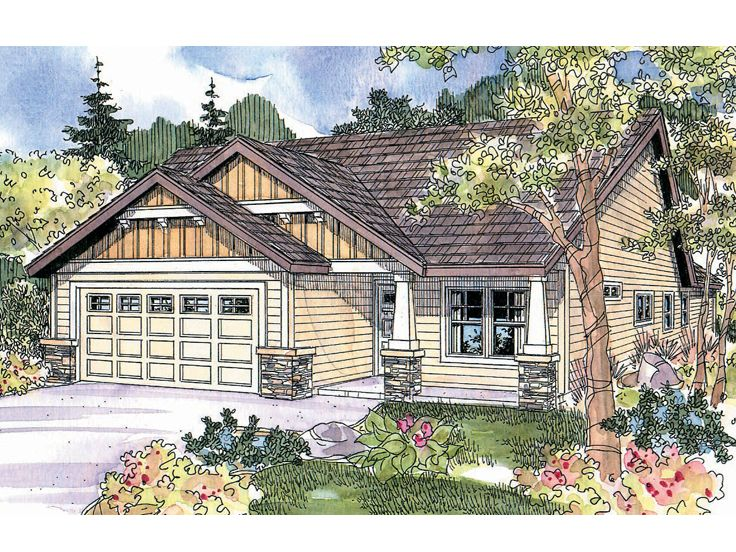 Bungalow House Plan, 051H-0155