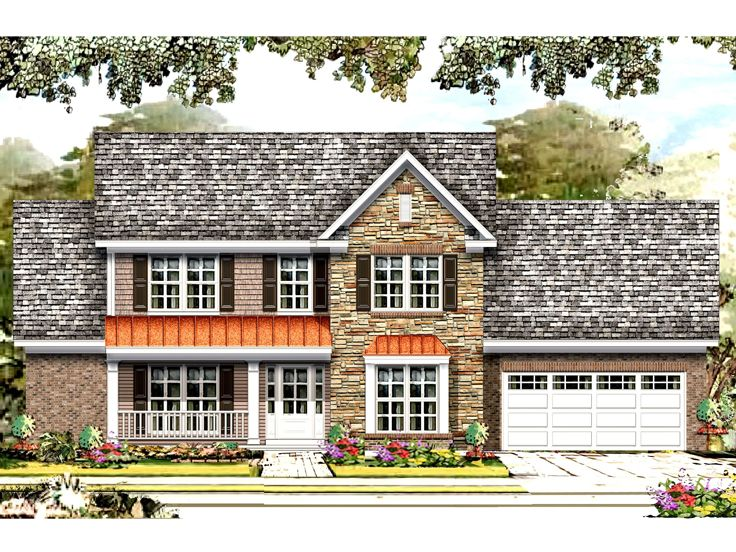 Two-Story House Plan, 061H-0176