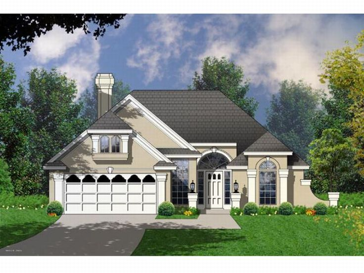 Sunbelt House Plan, 015H-0076