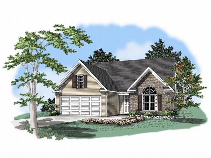 Narrow Lot Home Plan, 019H-0010