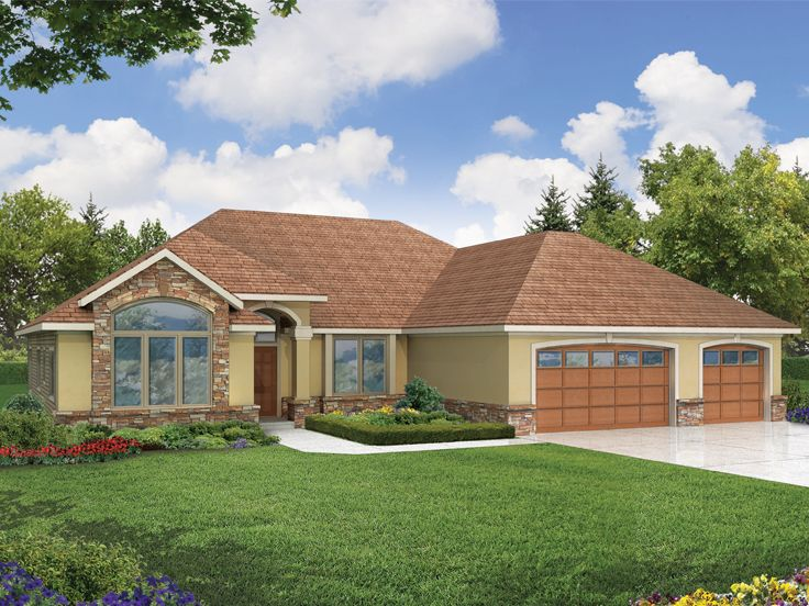 European House Plan, 051H-0068