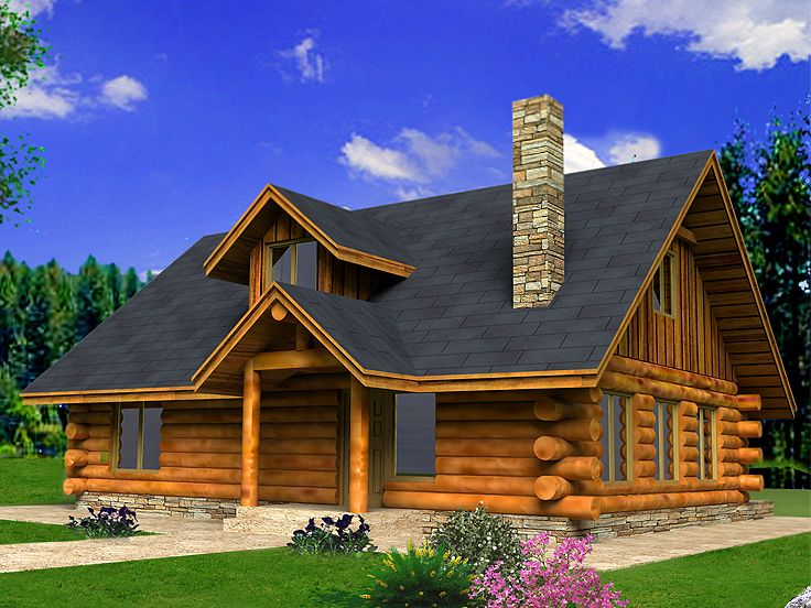 Log House Plan, 012L-0077