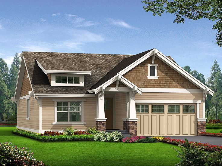 Bungalow Home Design, 035H-0102