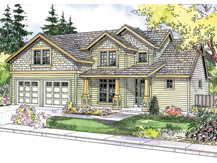Craftsman House Plan, 051H-0131