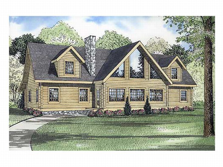 Log Home Plan, 025L-0047