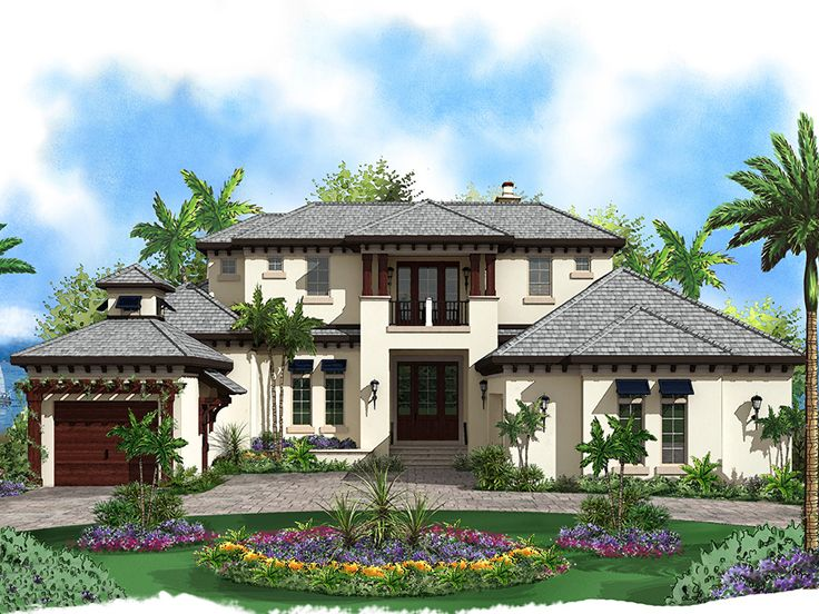 west indies home plans | premier luxury west indies house plan