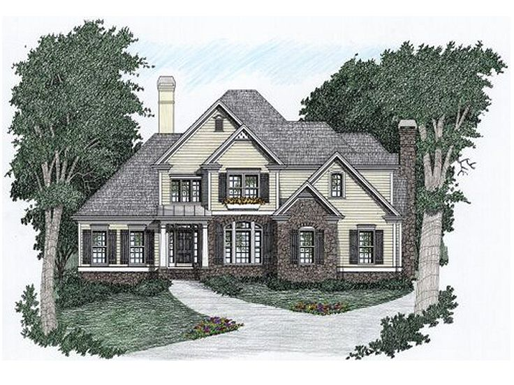 Two-Story House Design, 045H-0021