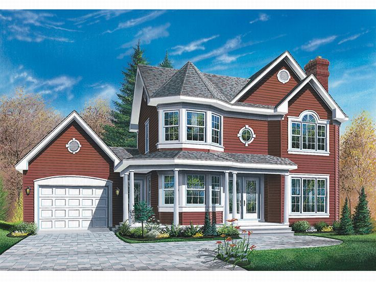 2-Story House Plan, 027H-0051