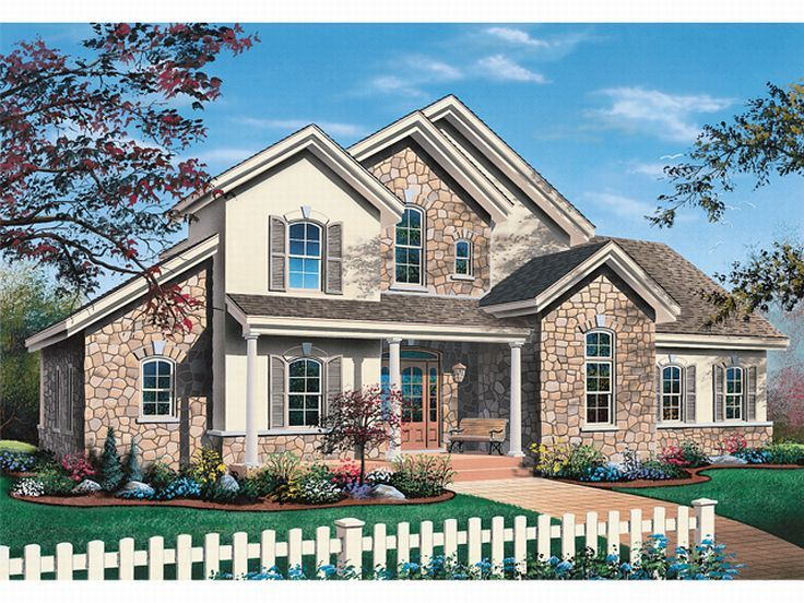 European House Plan, 027H-0016