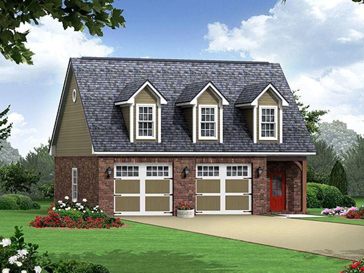 Garage apartment plans carriage house plan with 2 car for Double garage apartment plans