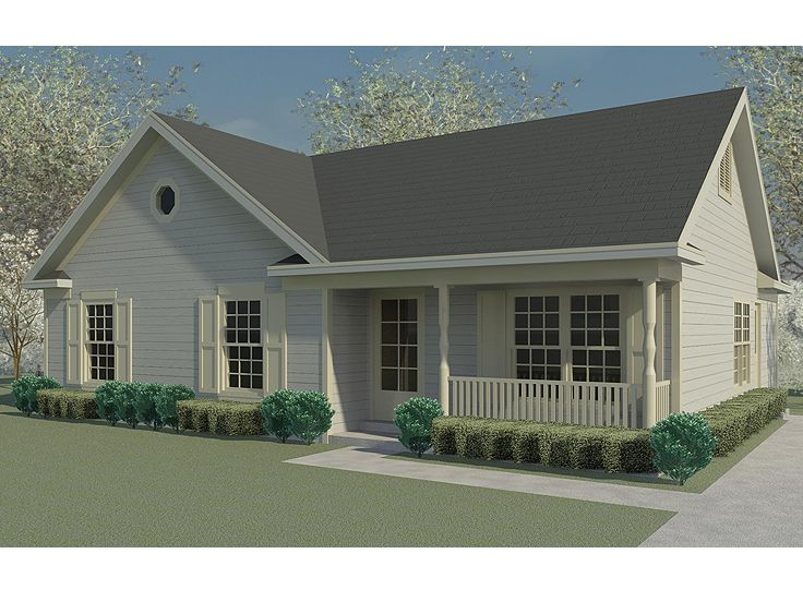 Small house plans traditional small ranch home plan Small house plans with 3 car garage