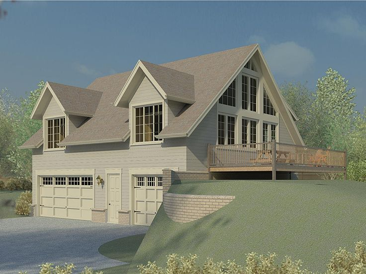 carriage house plans | carriage house plan for a sloping lot