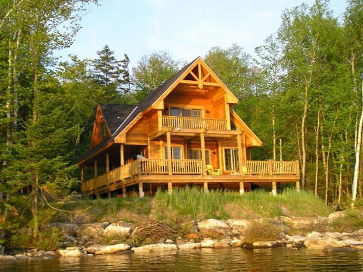Waterfront home plans rustic waterfront house plan for Waterfront house plans