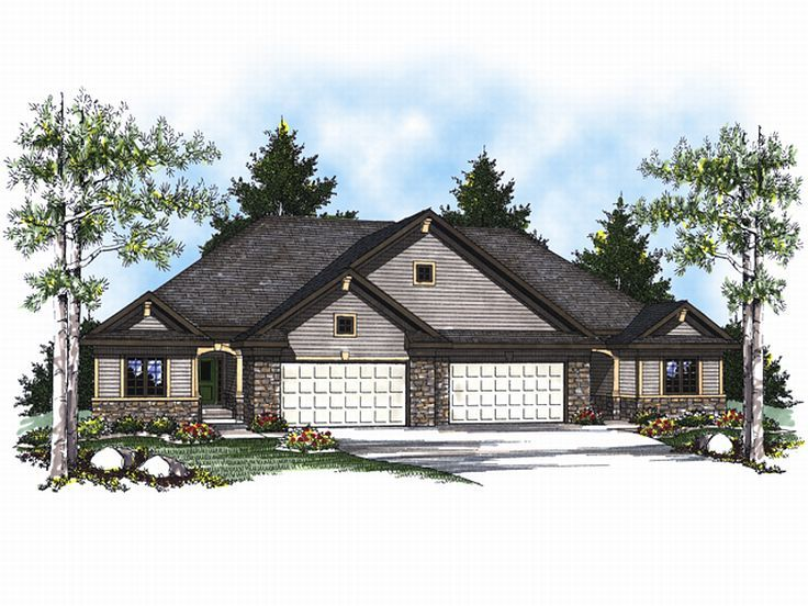 Multi-Family Home Plan, 020M-0048