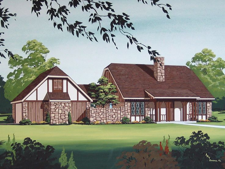 European House Plan, 021H-0202