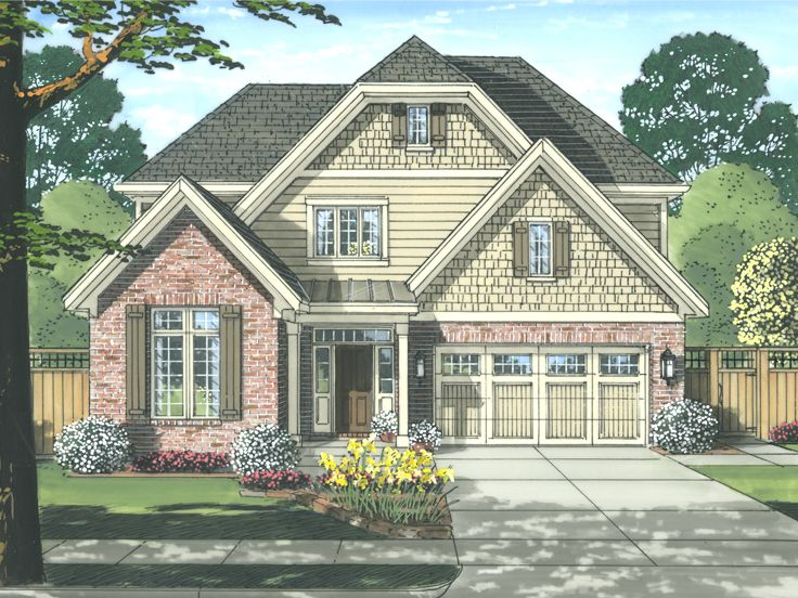 Narrow Lot Home Plan, 046H-0088